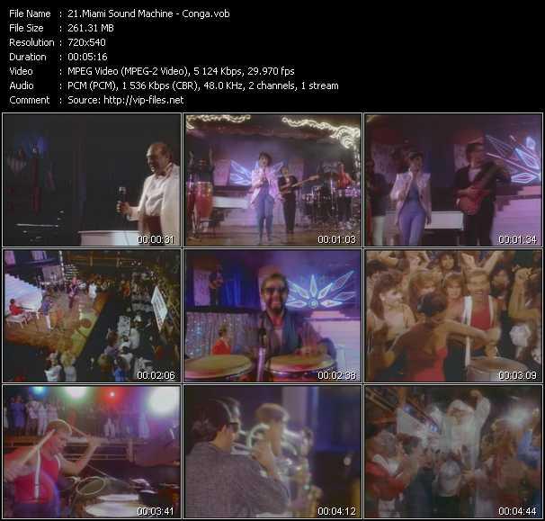 download Gloria Estefan And Miami Sound Machine « Conga » video vob