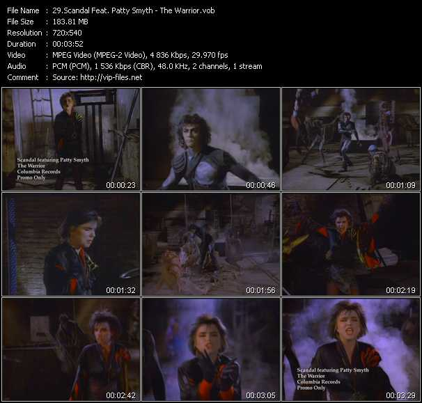 download Scandal Feat. Patty Smyth « The Warrior » video vob