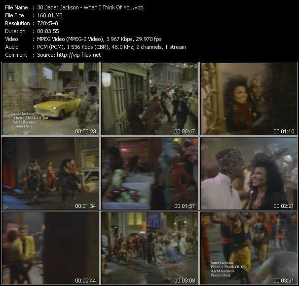 download Janet Jackson « When I Think Of You » video vob
