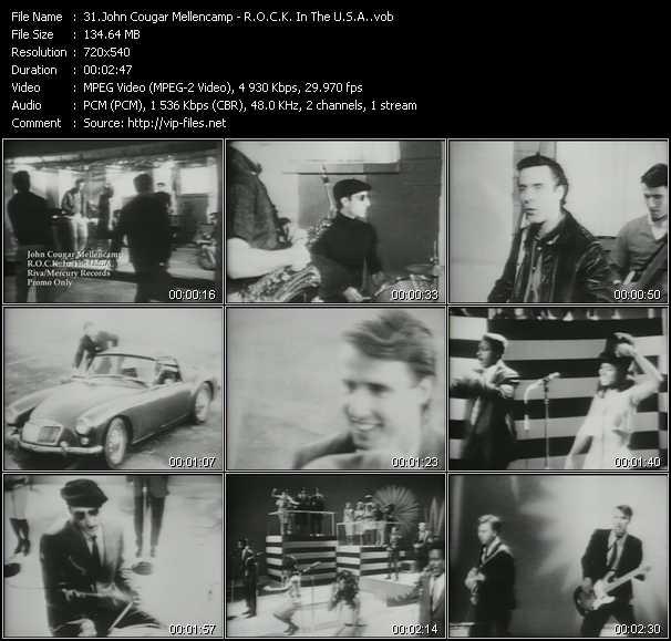 download John Cougar Mellencamp « R.O.C.K. In The U.S.A. » video vob
