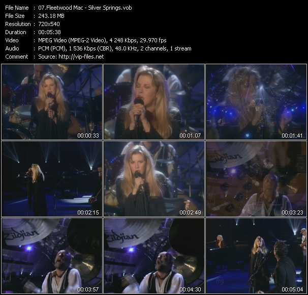 download Fleetwood Mac « Silver Springs » video vob