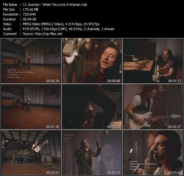 download Journey « When You Love A Woman » video vob
