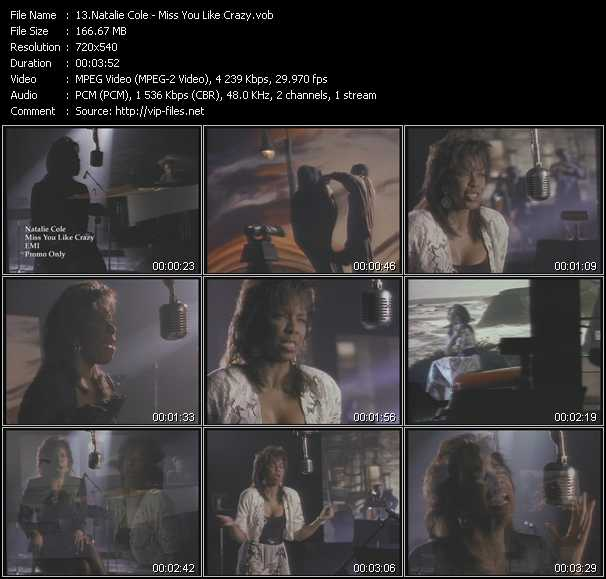 download Natalie Cole « Miss You Like Crazy » video vob