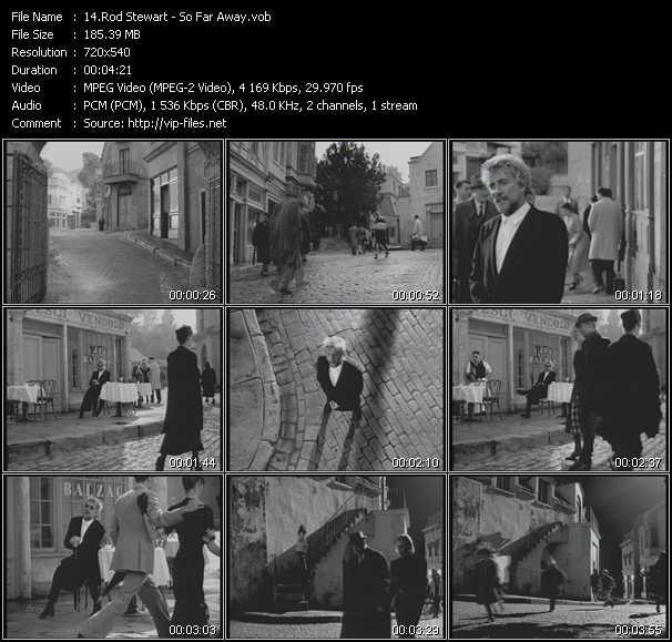 download Rod Stewart « So Far Away » video vob