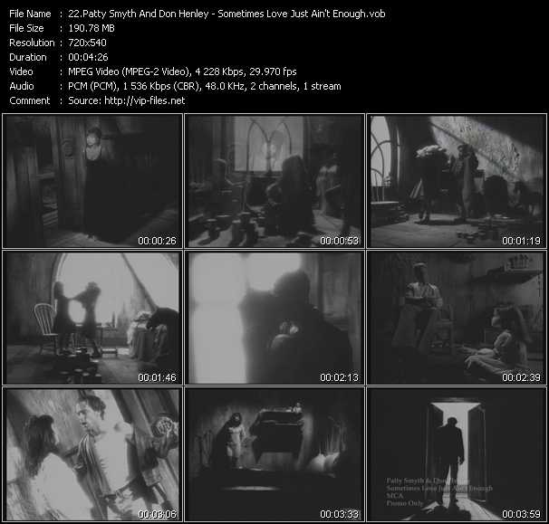 download Patty Smyth And Don Henley « Sometimes Love Just Ain't Enough » video vob