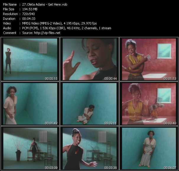 download Oleta Adams « Get Here » video vob