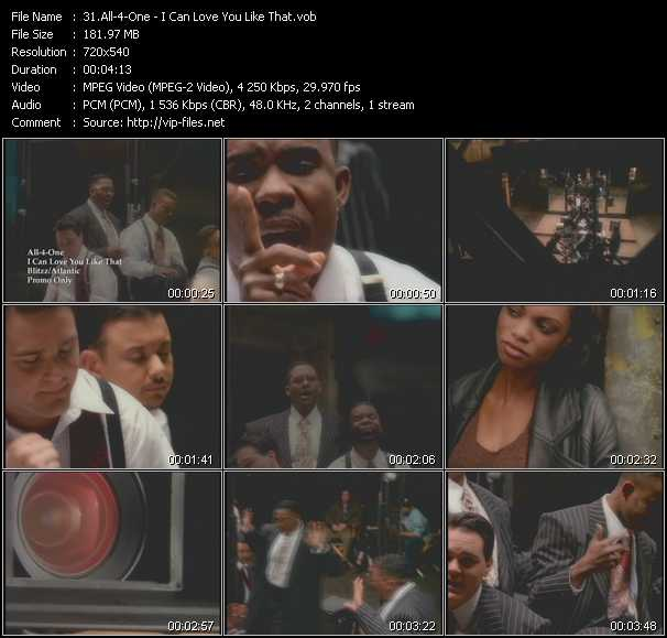 download All-4-One « I Can Love You Like That » video vob