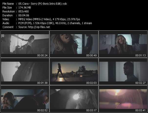 video Sorry (PO Boris Intro Edit) screen