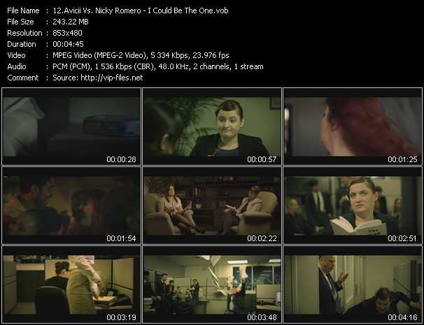 download Avicii Vs. Nicky Romero « I Could Be The One » video vob