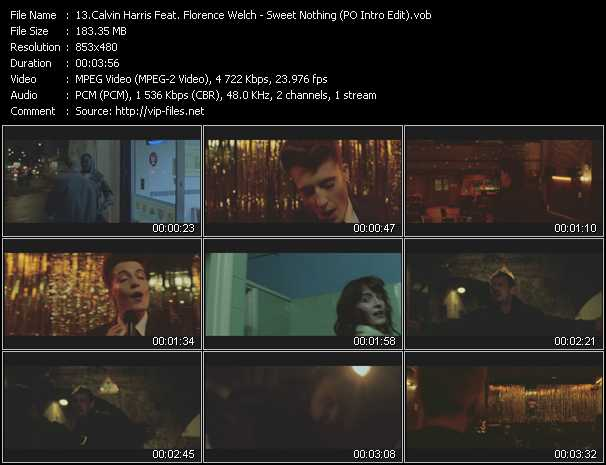 download Calvin Harris Feat. Florence Welch « Sweet Nothing (PO Intro Edit) » video vob