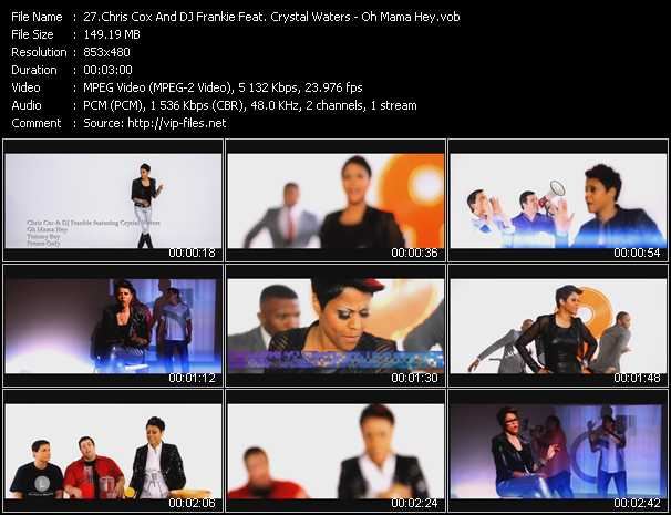 download Chris Cox And DJ Frankie Feat. Crystal Waters « Oh Mama Hey » video vob