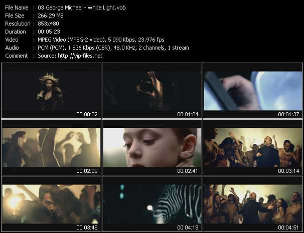 download George Michael « White Light » video vob