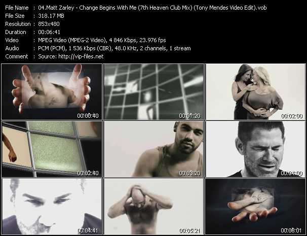 video Change Begins With Me (7th Heaven Club Mix) (Tony Mendes Video Edit) screen
