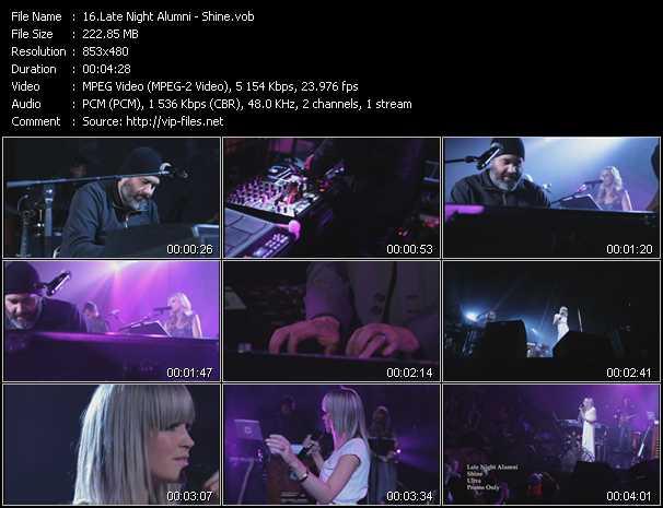 download Late Night Alumni « Shine » video vob
