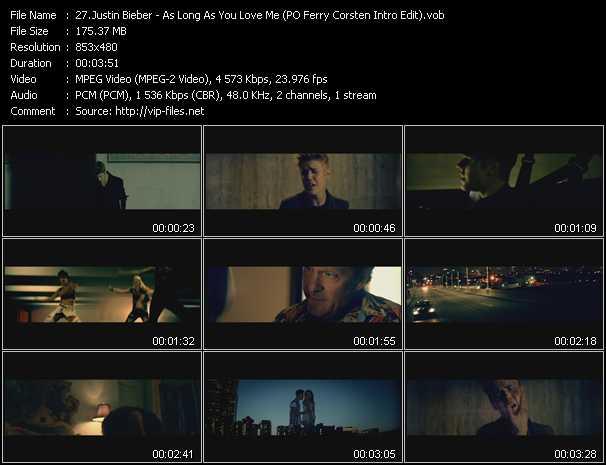 video As Long As You Love Me (PO Ferry Corsten Intro Edit) screen