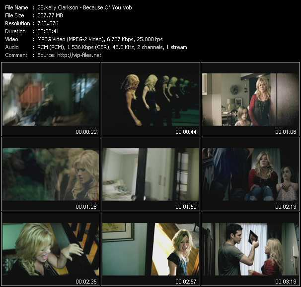 download Kelly Clarkson « Because Of You » video vob