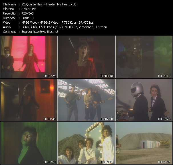 download Quarterflash « Harden My Heart » video vob