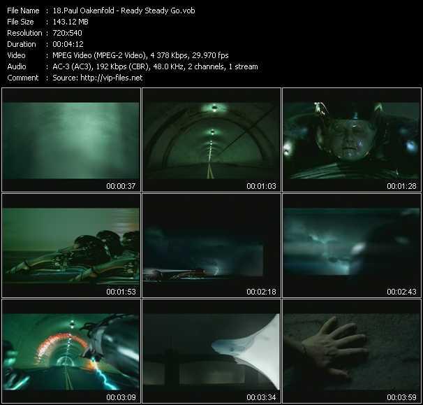 download Paul Oakenfold « Ready Steady Go » video vob