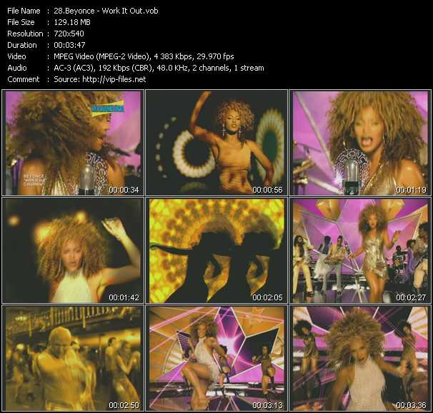 download Beyonce « Work It Out » video vob