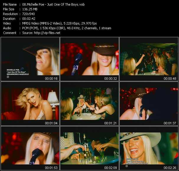 download Michelle Poe « Just One Of The Boys » video vob